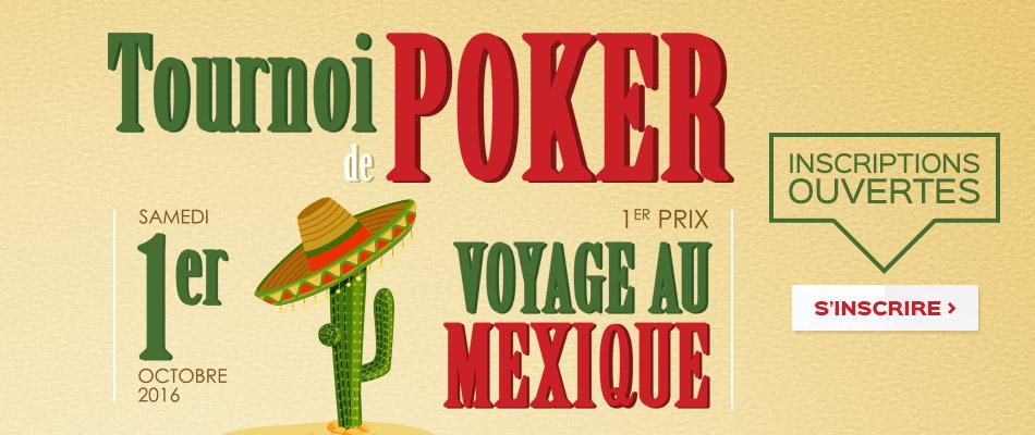 Tournoi de poker 1er octobre