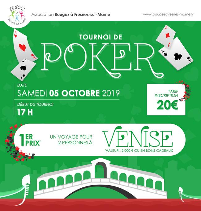 Tournoi de Poker octobre 2019